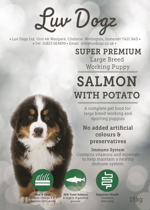 Super Premium Working Puppy Large Breed Salmon & Potato 1