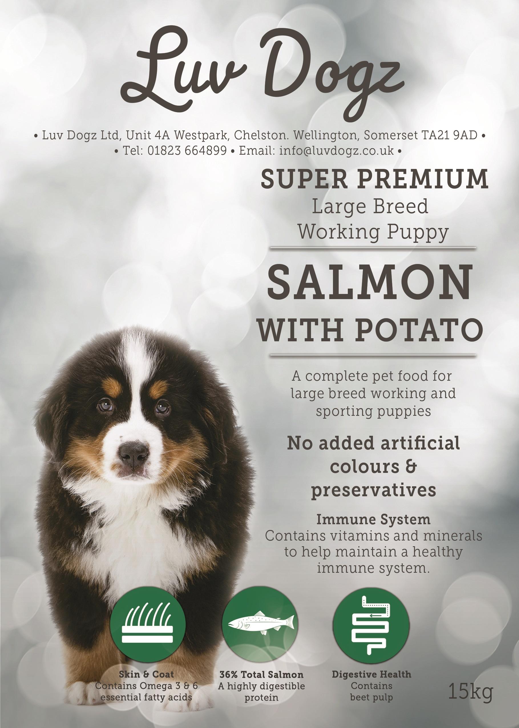 Super Premium Working Puppy Large Breed Salmon & Potato 2