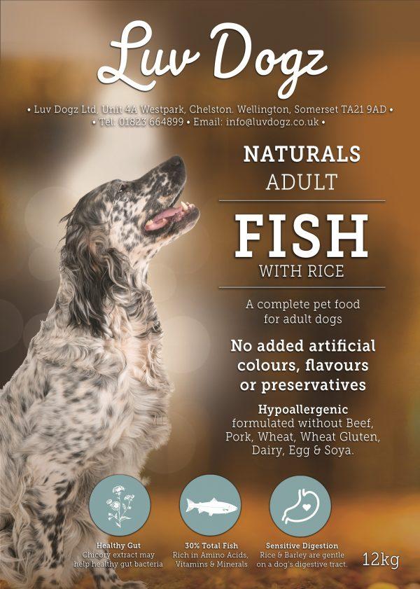 Natural Fish & Rice Dry Dog Food