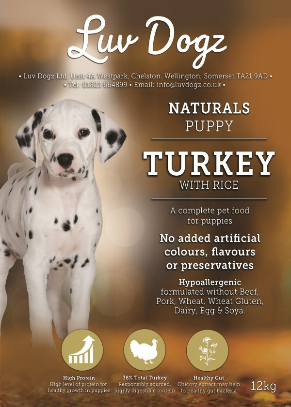 Puppy 100% Natural Turkey & Rice 1