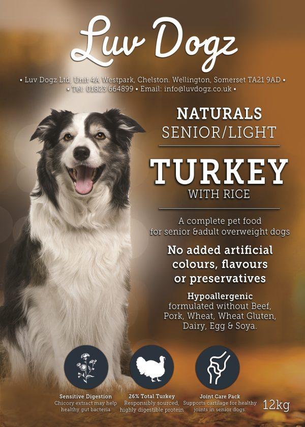 Natural Senior Light Dry Dog Food Turkey