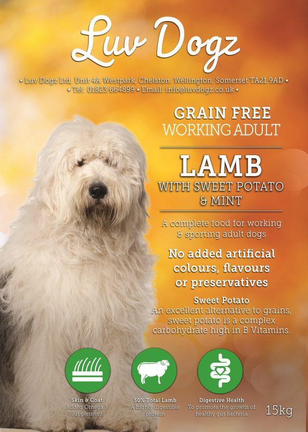 Working Grain Free Lamb With Sweet Potato & Mint