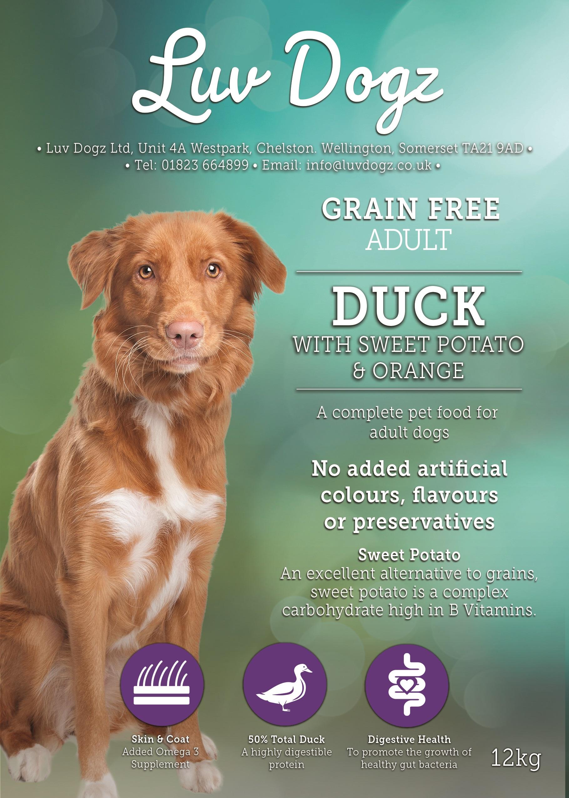 Grain Free Adult 50% Duck Sweet Potato Orange