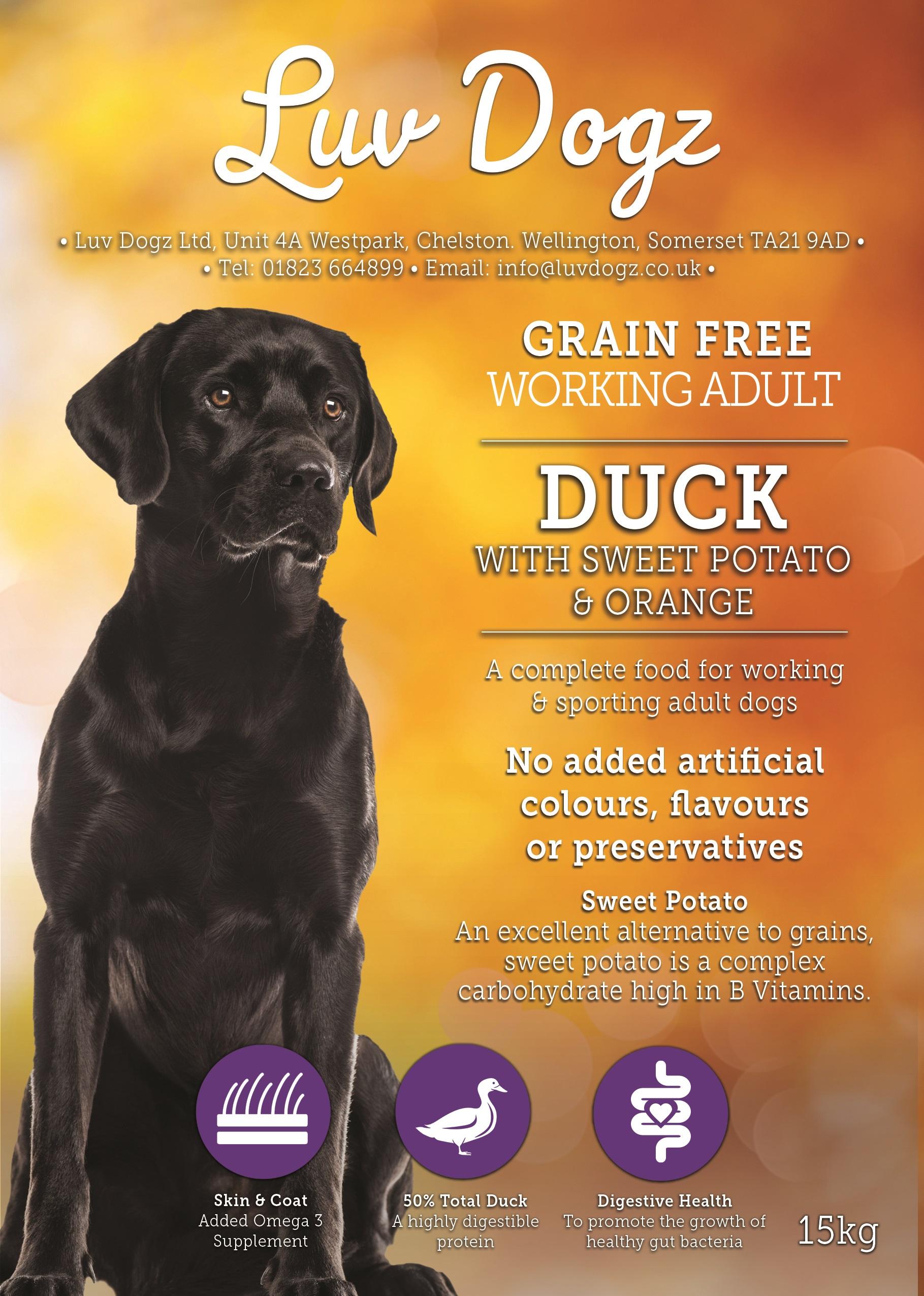 Working Grain Free 50% Duck With Sweet Potato and Orange