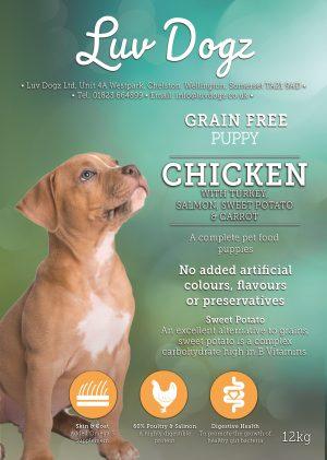 Grain Free Puppy Chicken Turkey Salmon 60%