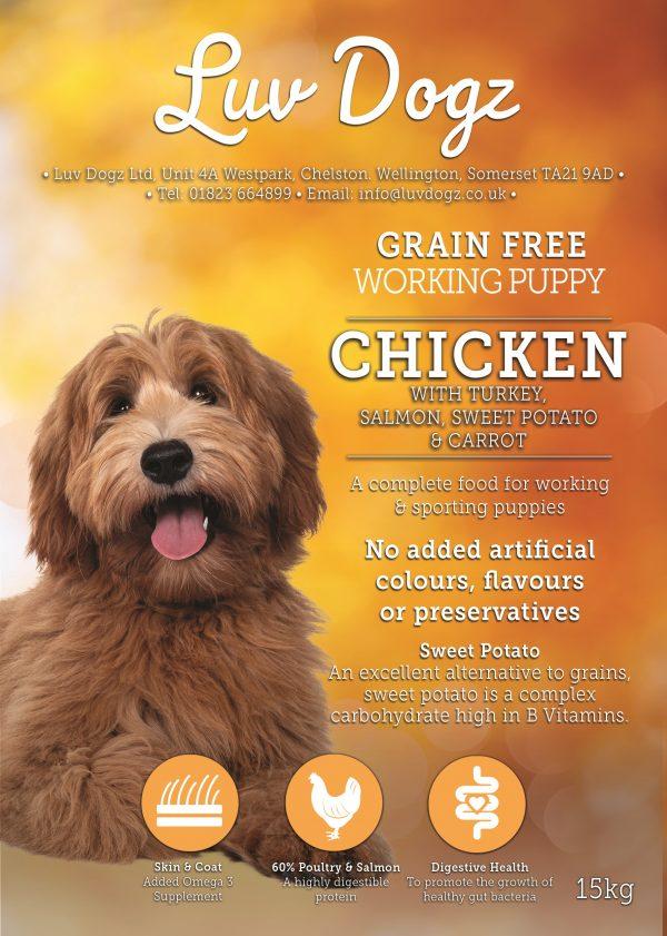 Puppy Chicken Turkey Salmon Grain Free