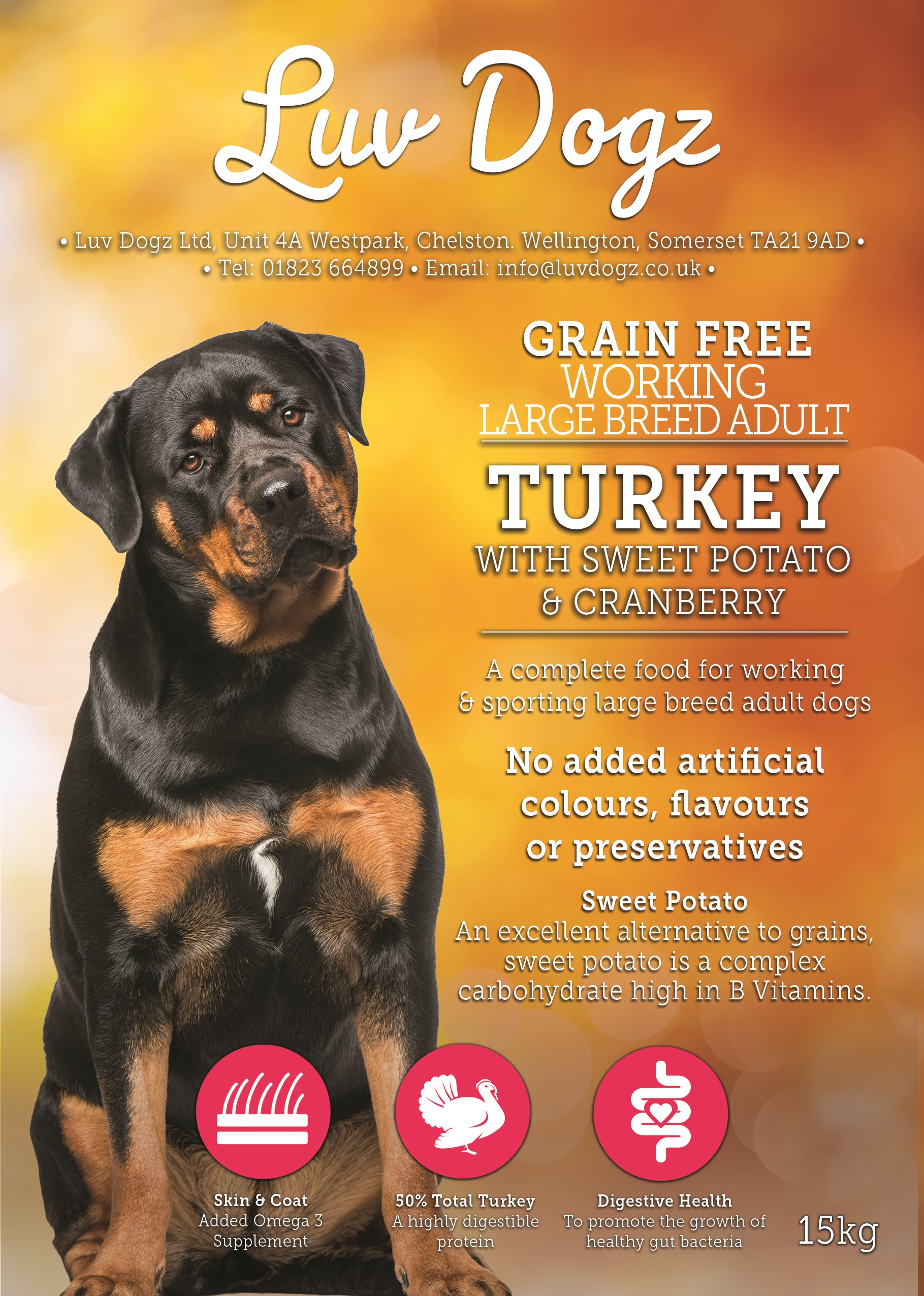Grain Free Large Breed Adult Turkey With Cranberry