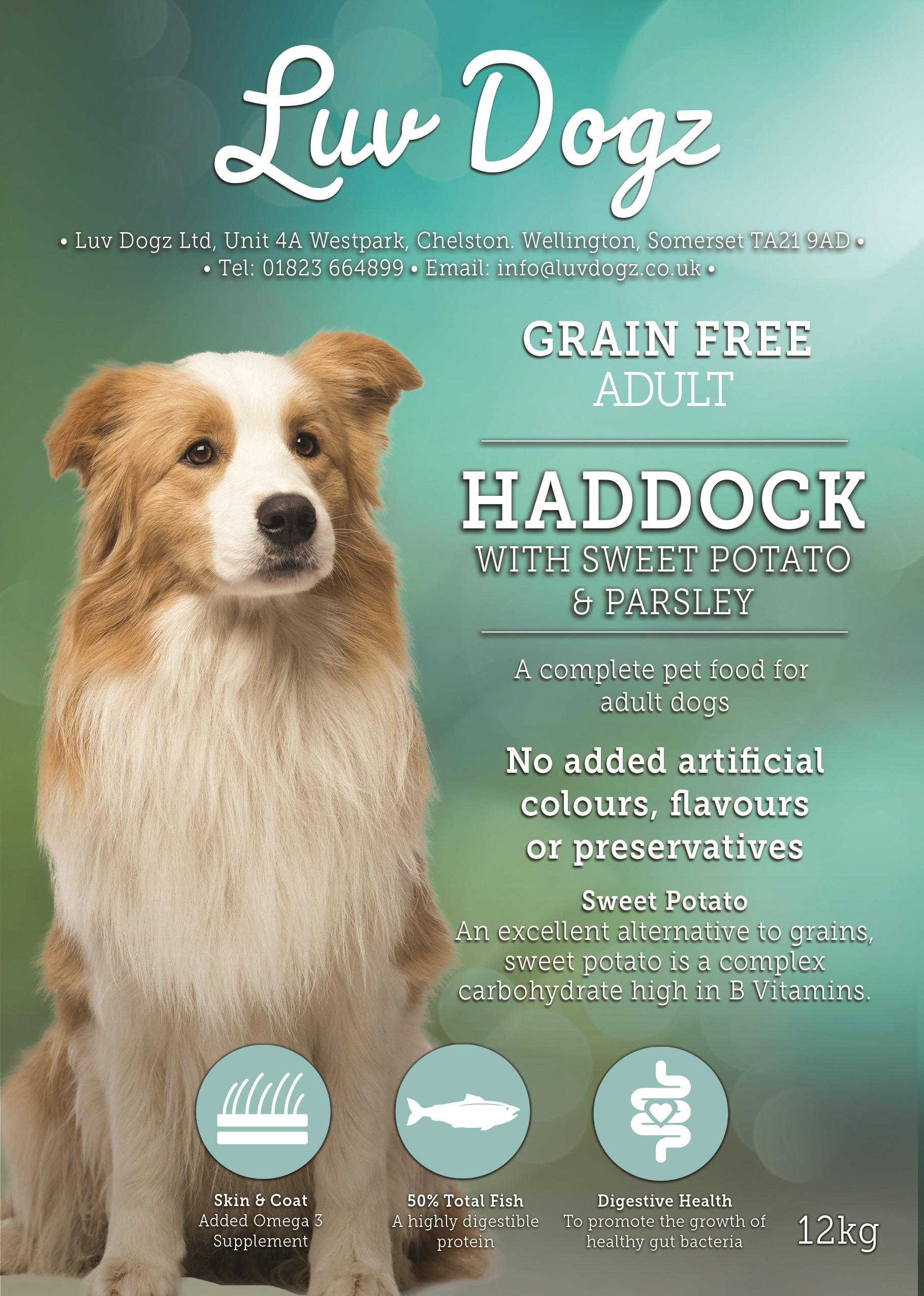 Grain Free Adult 50% Haddock With Sweet Potato and Parsley