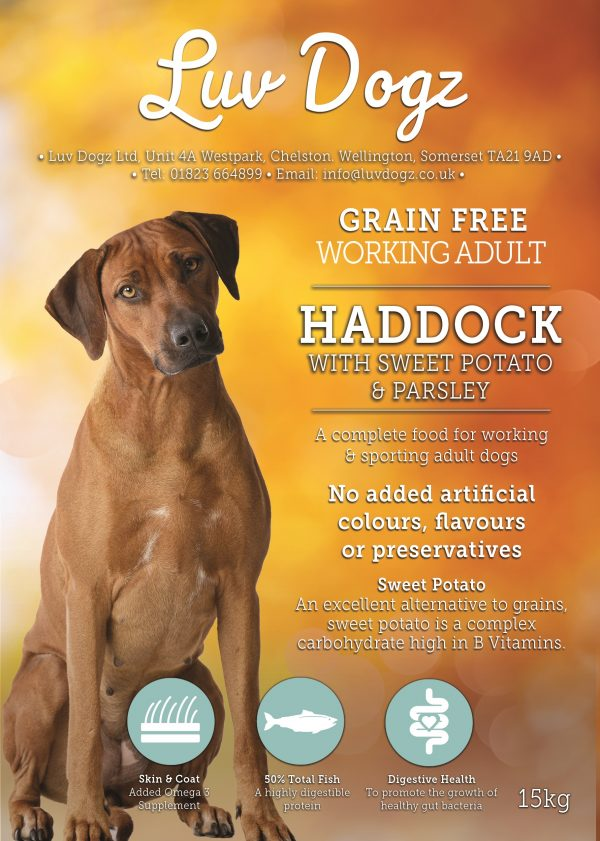 Working Grain Free 50% Haddock With Sweet Potato and Parsley