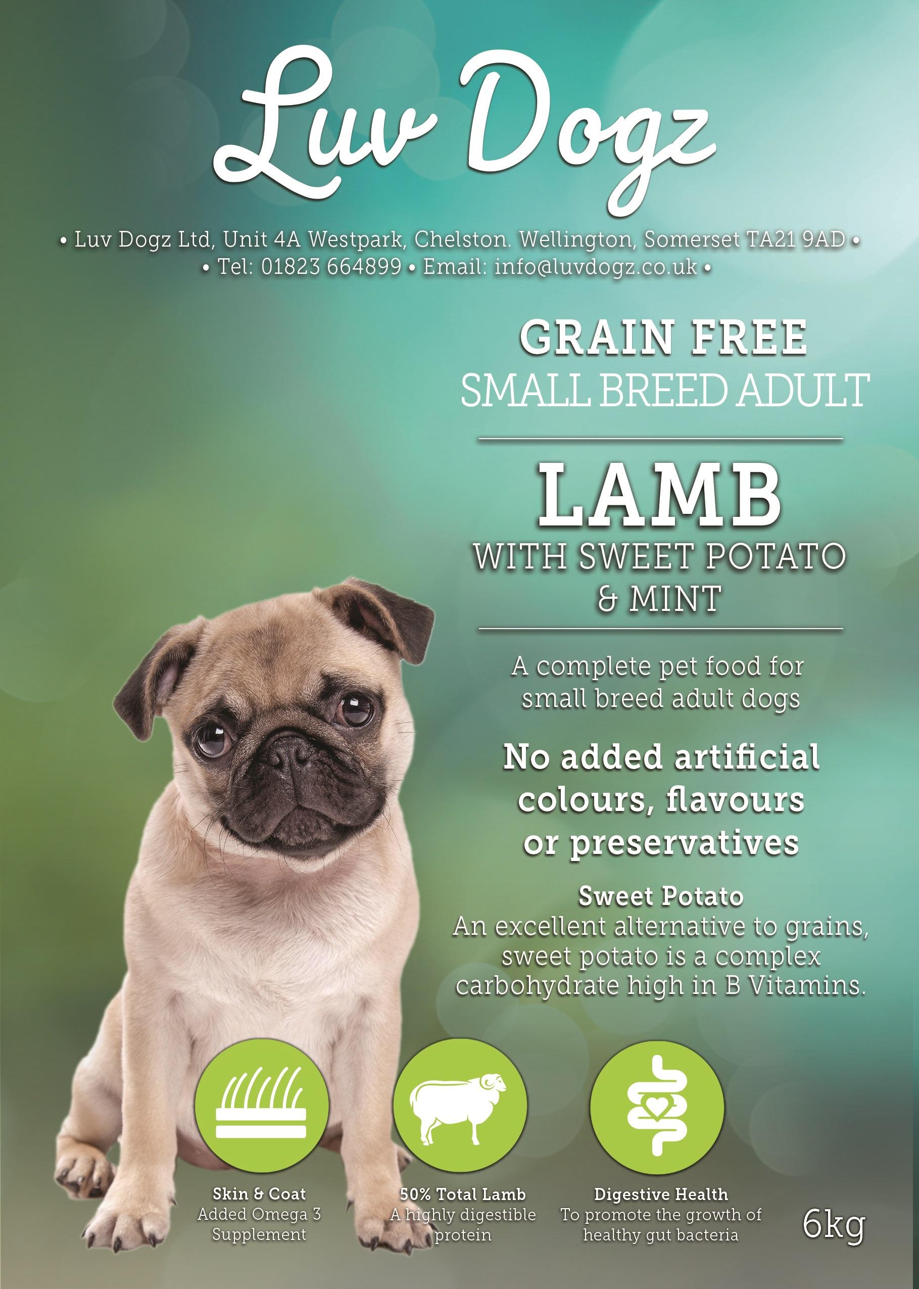 Small Breed Adult Lamb With Sweet Potato & Mint