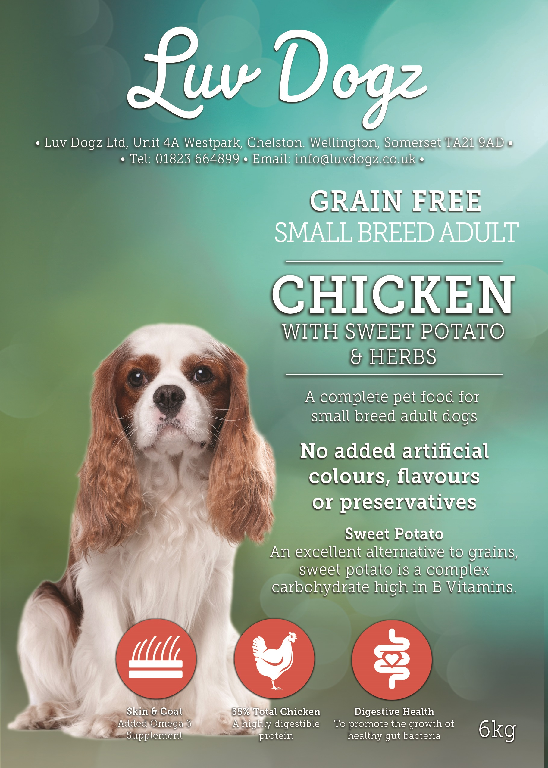 Grain Free Adult Small Breed Chicken With Sweet Potato & Herbs